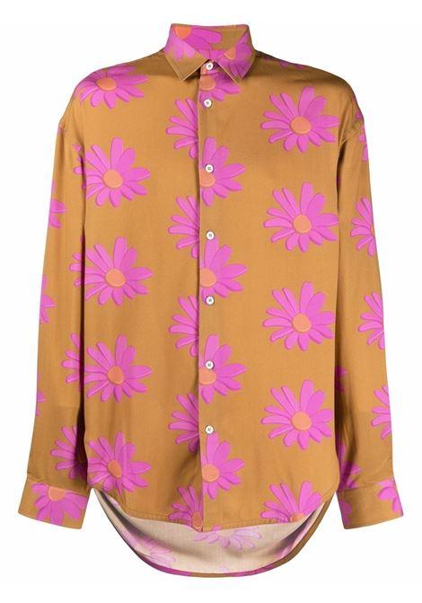 camicia la chemise notte uomo arancione in viscosa JACQUEMUS | Camicie | 216SH08-2167AD