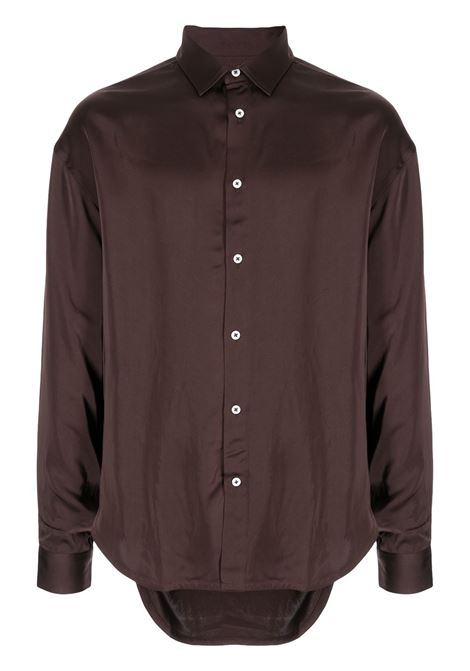 la chemise notte shirt man brown in viscose JACQUEMUS | Shirts | 216SH08-216880