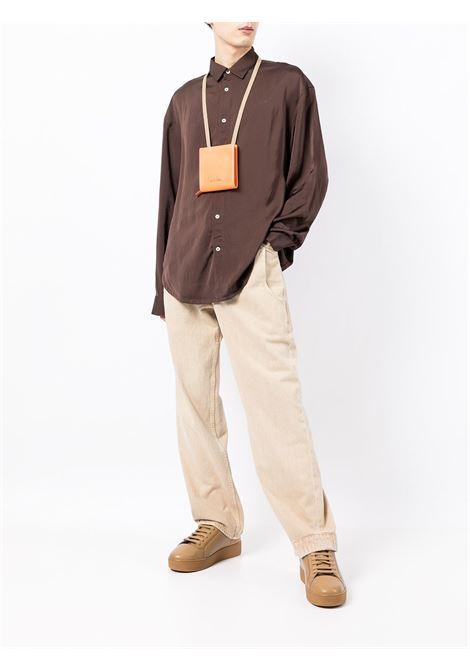 camicia la chemise notte uomo marrone in viscosa JACQUEMUS | Camicie | 216SH08-216880