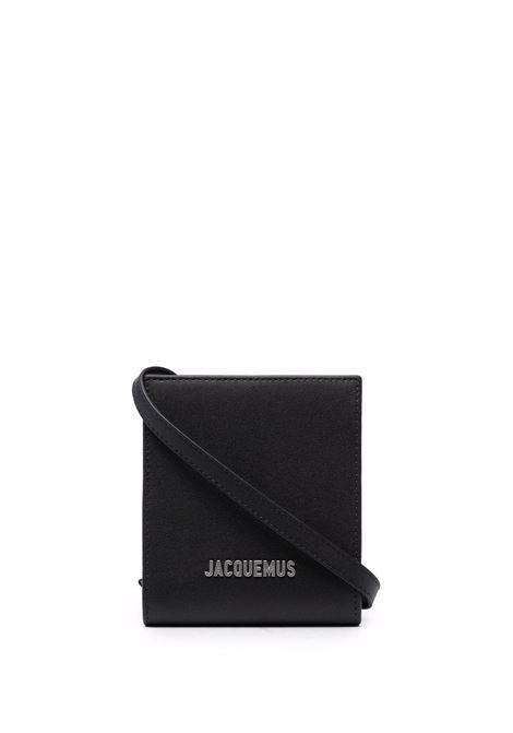 le gadjo bag man black in leather JACQUEMUS | Bags | 216SL02-216990