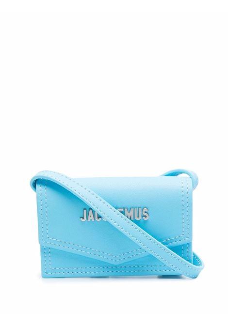 le porte azur bag unisex turquoise in leather JACQUEMUS | Bags | 216SL04-216340