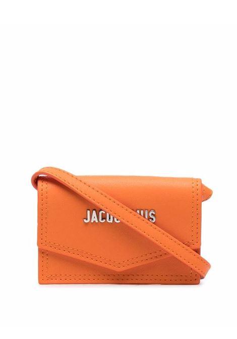 le porte azur bag unisex orange in leather JACQUEMUS | Bags | 216SL04-216750