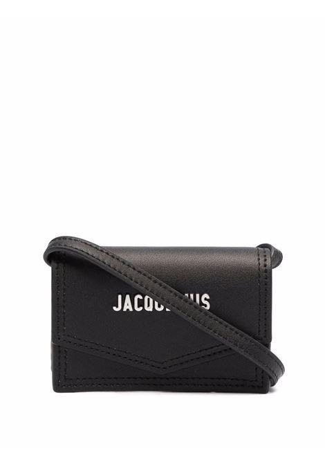 le porte azur bag unisex black in leather JACQUEMUS | Bags | 216SL04-216990