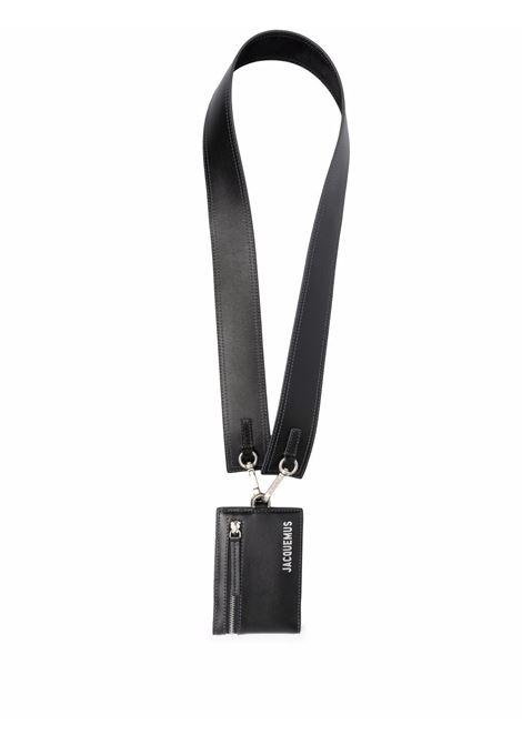 le porte atla wallet man black in leather JACQUEMUS | Wallets | 216SL06-216990
