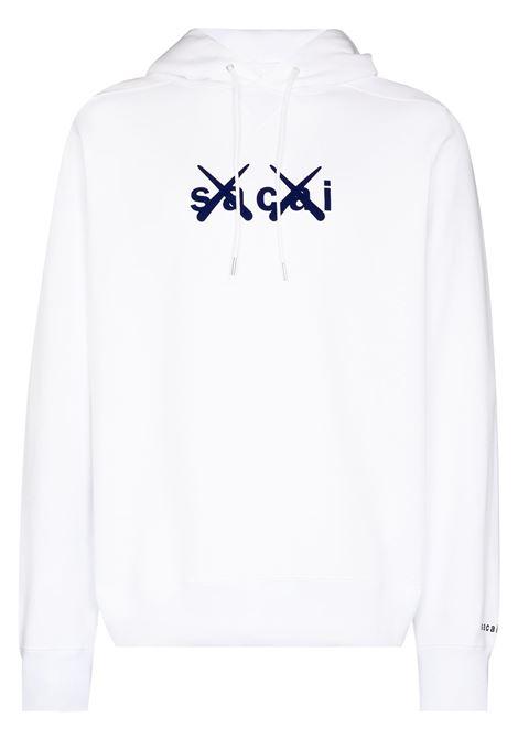 kaws hoodie man  white in cotton KAWS X SACAI | Sweatshirts | 21-0286S110