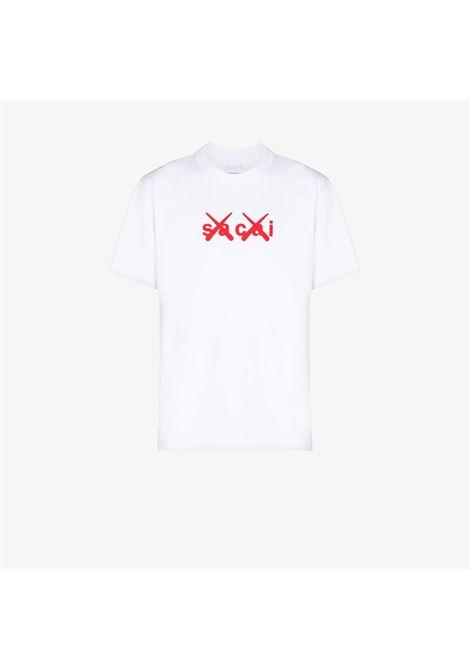 t-shirt kaws uomo bianca in cotone KAWS X SACAI   T-shirt   21-0288S117