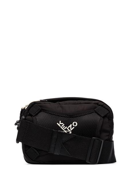 tracolla con logo unisex nera in nylon KENZO   Borse   FA65SA218F2199
