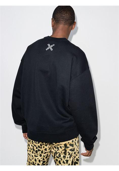 felpa con logo uomo nera in cotone KENZO | Felpe | FA65SW5214MS99