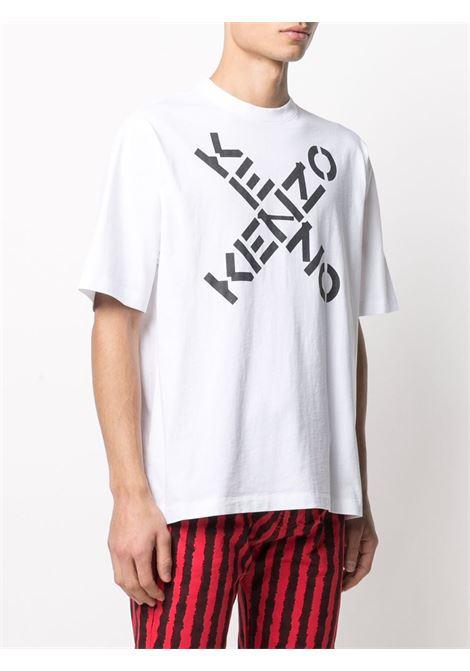 logo t-shirt man white in cotton KENZO | T-shirts | FA65TS5024SJ01