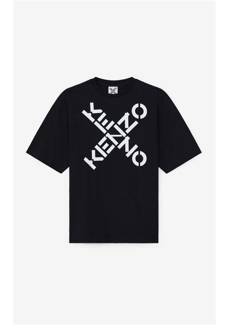 Logo t-shirt Black in Cotton Man KENZO | T-shirts | FA65TS5024SJ99
