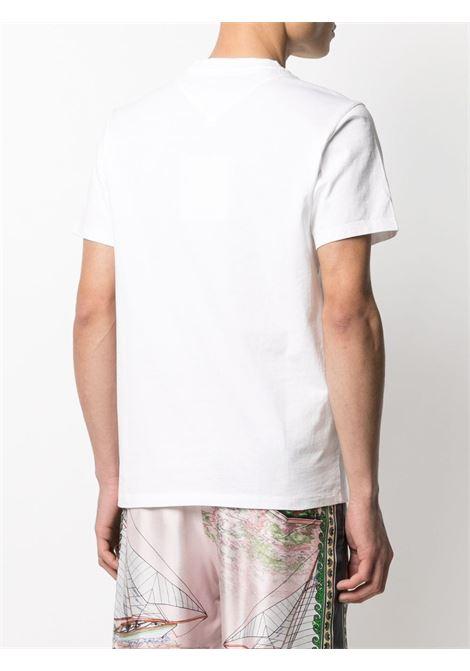logo t-shirt man white in cotton KENZO | T-shirts | FB55TS0034SA01B