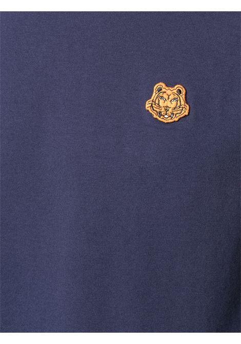 logo t-shirt man blue in cotton KENZO | T-shirts | FB55TS0034SA76