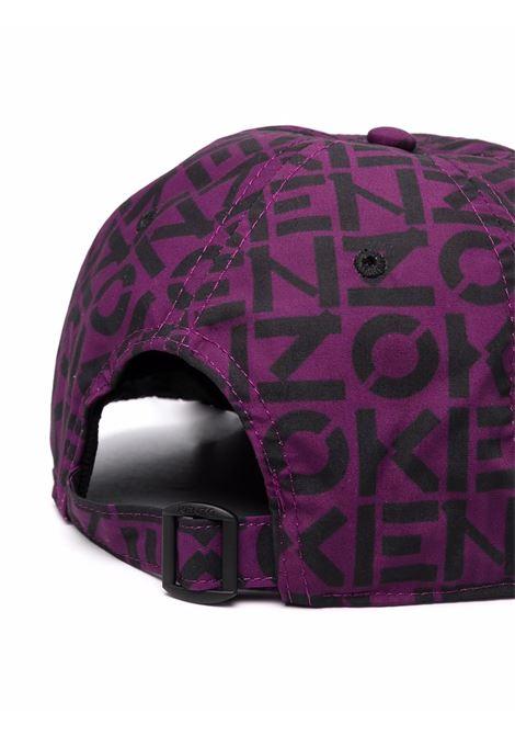 logo hat man purple in cotton KENZO   Hats   FB65AC901F3083
