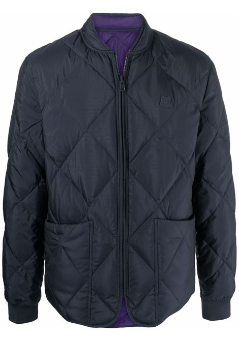 Reversible quilted down jacket Blue Man KENZO | Jackets | FB65BL1221NF79