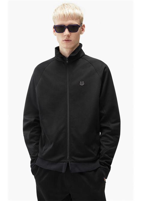 logo jacket man black KENZO | Jackets | FB65BL7514IP99