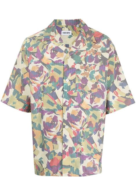 printed shirt man multicolor in cotton KENZO | Shirts | FB65CH1409S150