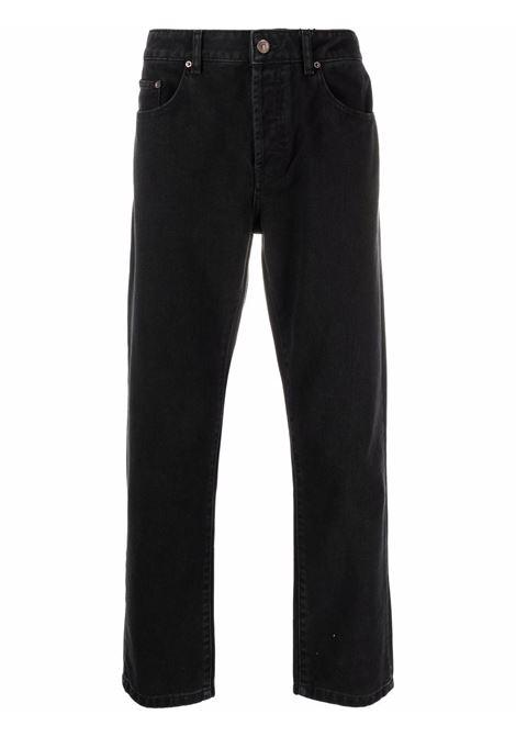 straight jeans man black KENZO | Trousers | FB65DP2002ED99