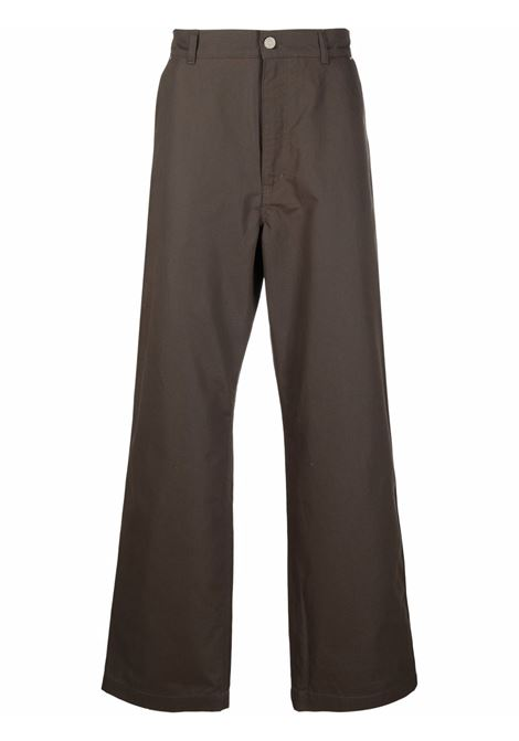 straight pants man bronze in cotton KENZO | Trousers | FB65PA3601NB52