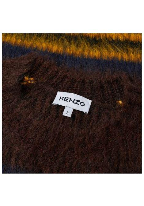 striped sweater man brown KENZO | Sweaters | FB65PU6153CH90B