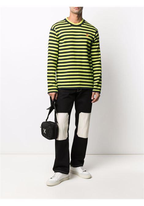 Striped sweater Yellow in Cotton Man KENZO | Sweaters | FB65PU6223CB45