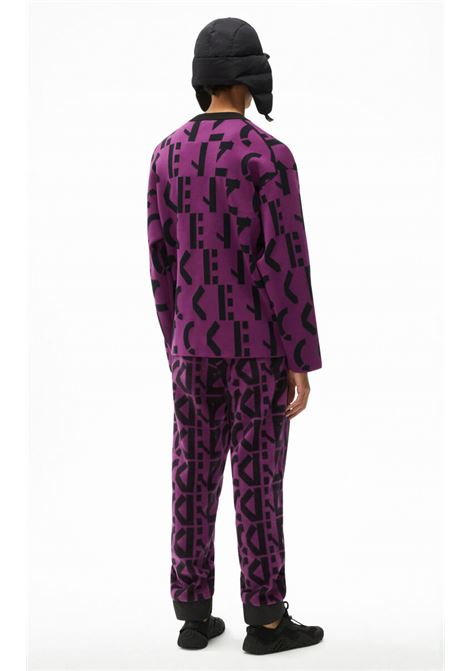 maglione con logo uomo viola KENZO | Maglieria | FB65PU6373SD83