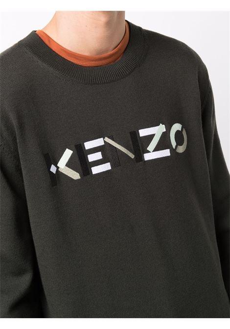logo sweater man in wool KENZO | Sweaters | FB65PU6393LA97