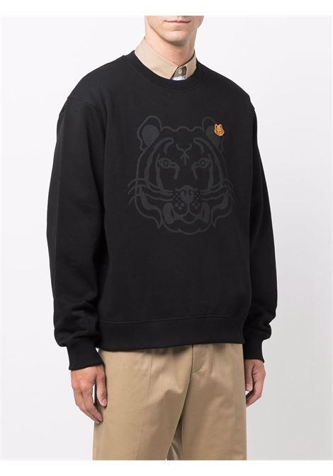 felpa con logo uomo nera in cotone KENZO | Felpe | FB65SW0054MO99