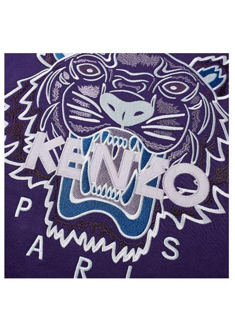 logo sweatshirt man purple in cotton KENZO | Sweatshirts | FB65SW1234XA80
