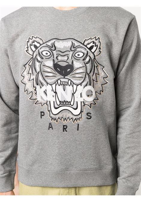 logo sweatshirt man gray in cotton KENZO | Sweatshirts | FB65SW1234XA95