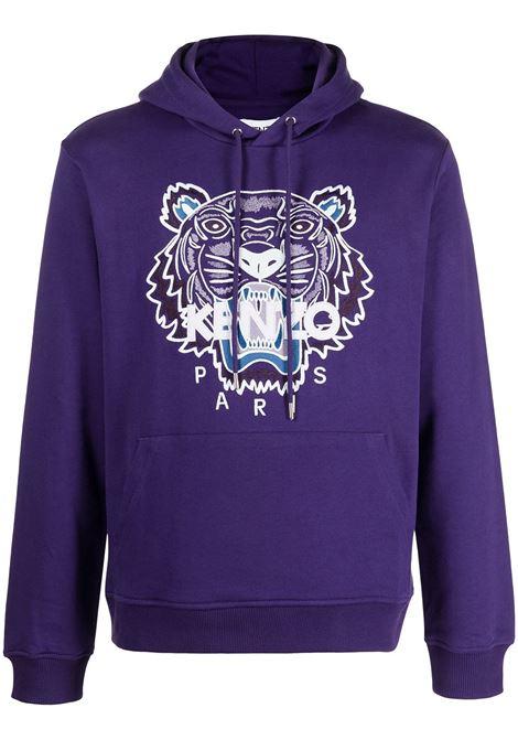 Tiger hoodie Purple in Cotton Man KENZO | Sweatshirts | FB65SW3334XA80