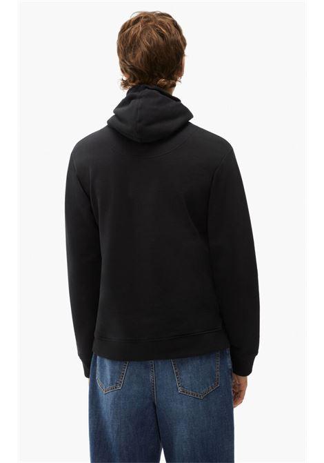 tiger hoodie man black in cotton KENZO | Sweatshirts | FB65SW3334XA99