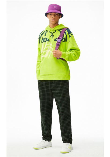 hoodie with print man yellow in cotton KENZO | Sweatshirts | FB65SW5384MO45