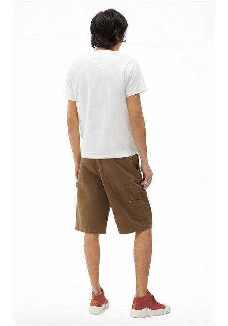 t-shirt con logo uomo bianca in cotone KENZO | T-shirt | FB65TS0004SA01B