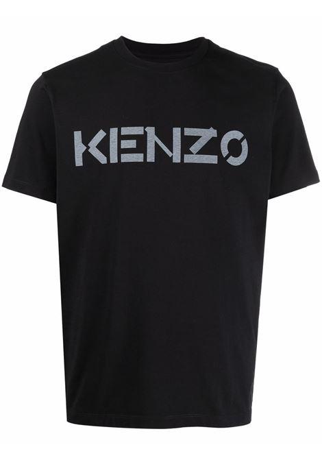 t-shirt con logo uomo nera in cotone KENZO | T-shirt | FB65TS0004SA99