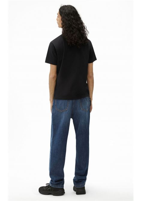 logo t-shirt man black in cotton KENZO | T-shirts | FB65TS0004SA99