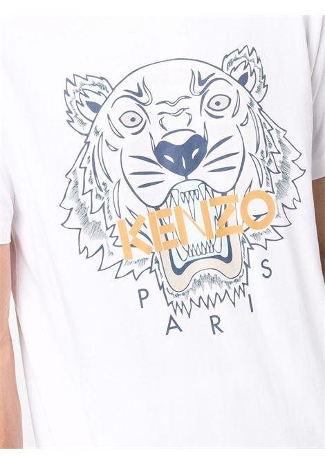 logo t-shirt man white in cotton KENZO | T-shirts | FB65TS0204YA01B