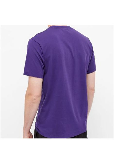 logo t-shirt man purple in cotton KENZO | T-shirts | FB65TS0204YA80