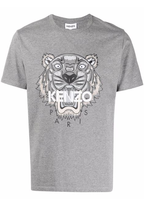 Tiger t-shirt Grey in Cotton Man KENZO | T-shirts | FB65TS0204YA95