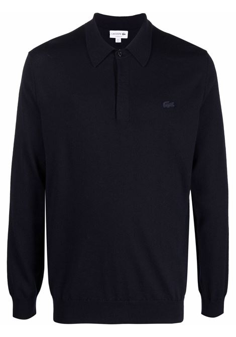 pullover in lana uomo blu LACOSTE | Maglieria | AH1968166