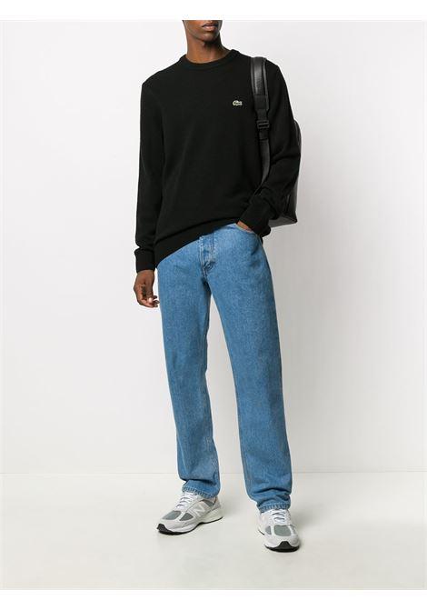 logo pullover man black in wool LACOSTE | Sweaters | AH1988031