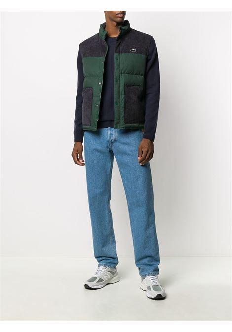 logo sweater man blue navy in wool LACOSTE   Sweaters   AH1988166