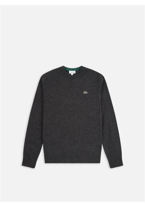maglione con logo uomo grigio in lana LACOSTE   Maglieria   AH1988EL6