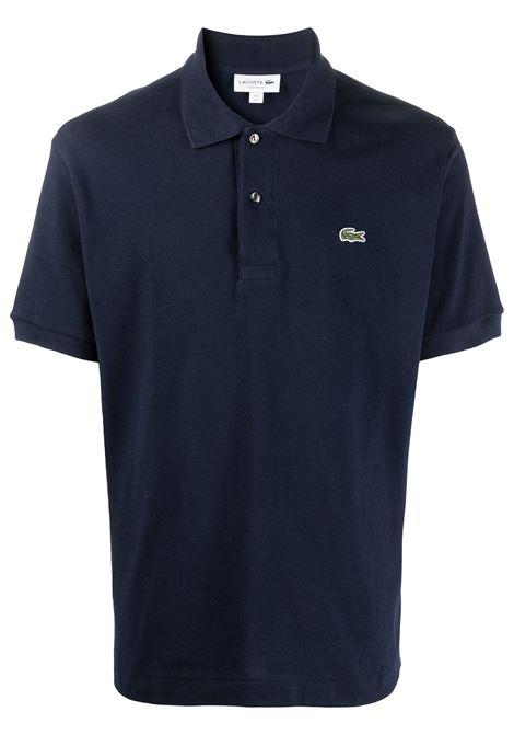 polo con logo uomo blu in cotone LACOSTE | Polo | L1212166