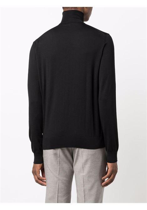 maglione a collo alto uomo nero in lana LANVIN | Maglieria | RM-PO0041-K201-A2110