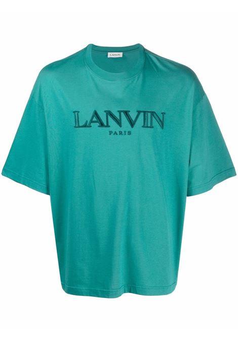 t-shirt oversize uomo azzurra in cotone LANVIN | T-shirt | RM-TS0009-J007-A21280