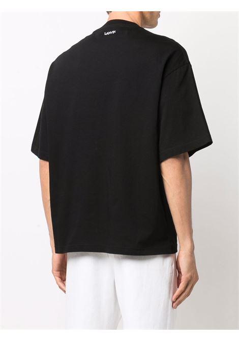 curblace t-shirt man black in cotton LANVIN   T-shirts   RM-TS0009-J119-H2110
