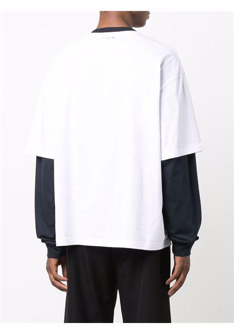 long sleeves t-shirt man white in cotton LANVIN | T-shirts | RM-TS0020-J054-A2101