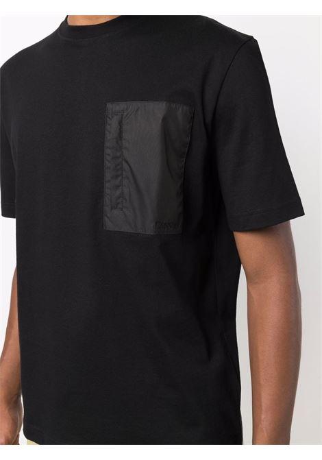 t-shirt con taschino uomo nera in cotone LANVIN | T-shirt | RM-TS0021-J028-A2110