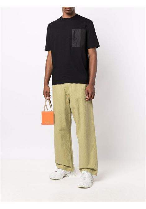 t-shirt con taschino uomo nera in cotone LANVIN   T-shirt   RM-TS0021-J028-A2110