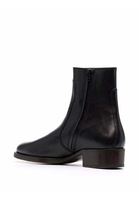 stivali con zip uomo neri in pelle LEMAIRE | Stivali | M 213 FO306 LL185999